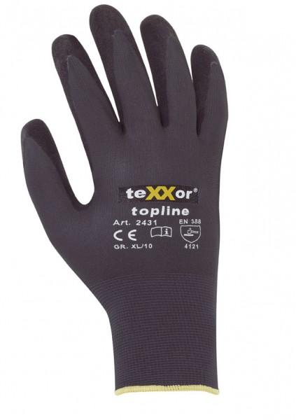 teXXor® Nylon-Strickhandschuhe NITRIL BESCHICHTG. 2431