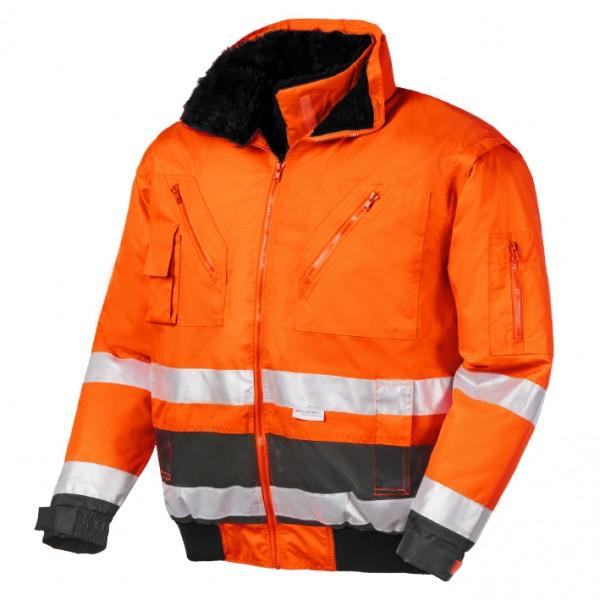 teXXor® Warnschutz-Pilotenjacke VANCOUVER, leuchtorange/grau 4107