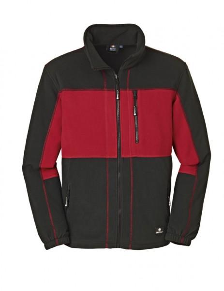 4PROTECT® Fleece-Jacke DALLAS, rot/schwarz 3351