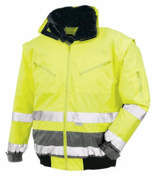 teXXor® Warnschutz-Pilotenjacke VANCOUVER, leuchtgelb/grau 4106