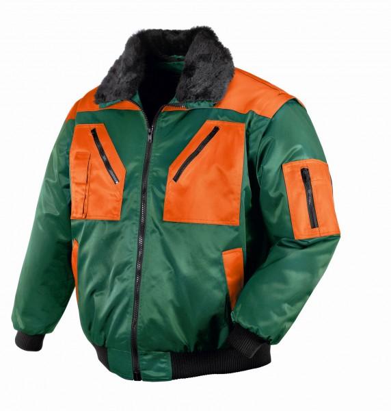 teXXor® Piloten-Jacke OSLO, grün/orange 4178