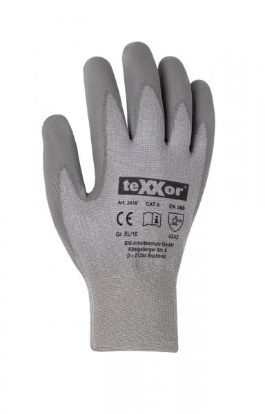 teXXor® Schnittschutz-Strickhandschuhe PU-BESCHICHTG. 2418