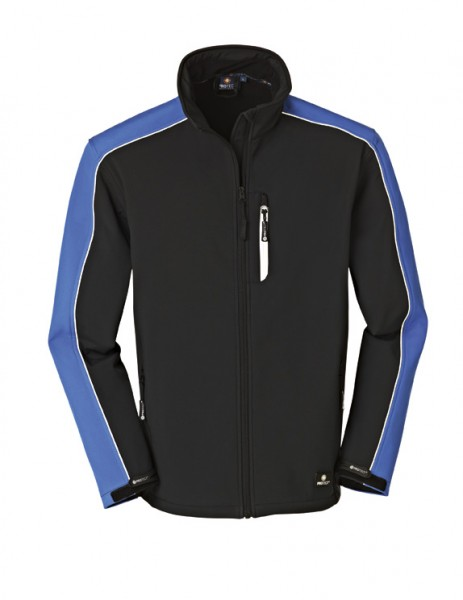 4PROTECT® Softshell-Jacke OHIO, blau/schwarz 3370