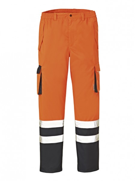 4PROTECT® Warnschutz-Hose BALTIMORE, leuchtorange/navy 3491