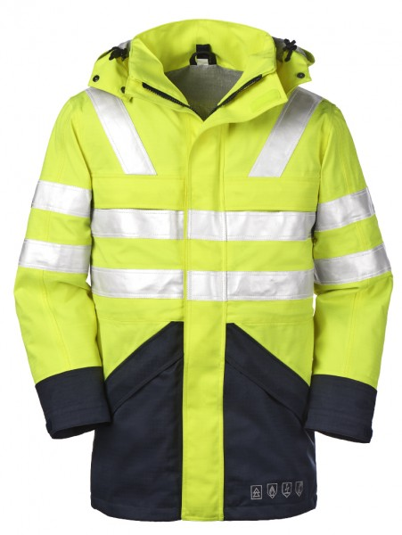 4PROTECT® Multinorm-Warnschutz-Jacke EDMONTON, leuchtgelb/navy 3510