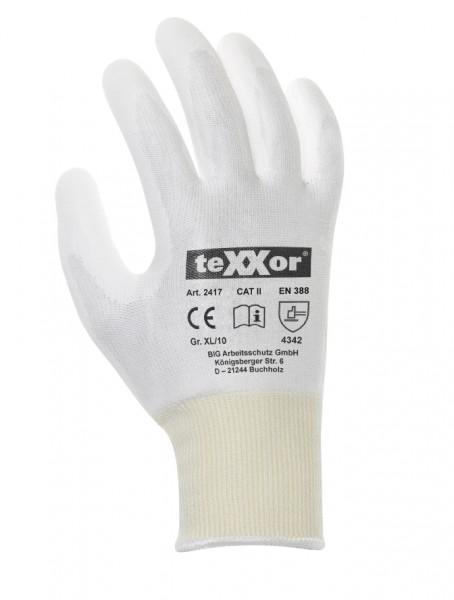 teXXor® Schnittschutz-Strickhandschuhe PU-BESCHICHTG. 2417