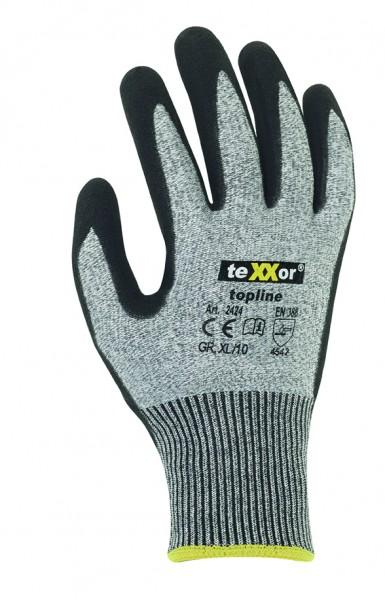 teXXor® Schnittschutz-Strickhandschuhe NITRILBESCHICHTG. 2424