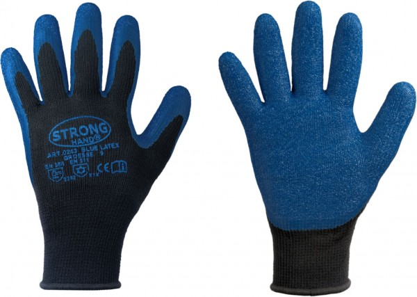 STRONGHAND *BLUE LATEX* STRONGHAND® HANDSCHUHE 0243