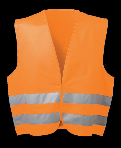 WICA-TEX *OSKAR* POLYESTER-WARNWESTE ORANGE WICA-TEX® 22686