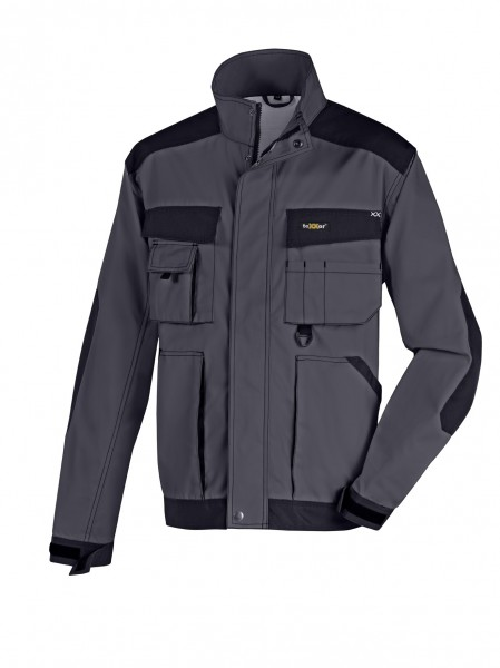 teXXor® Canvas Bundjacke ANTIGUA, grau/schwarz 4167