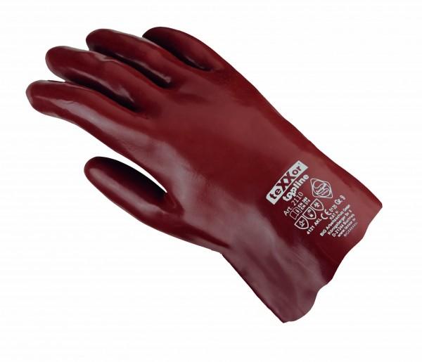 teXXor® Chemikalienschutzhandschuhe PVC ROTBRAUN 2110