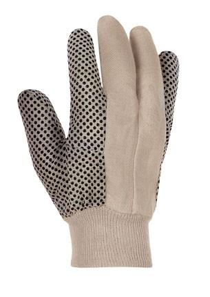 teXXor® Baumwollhandschuhe KÖPER, schwarze Noppen 1890
