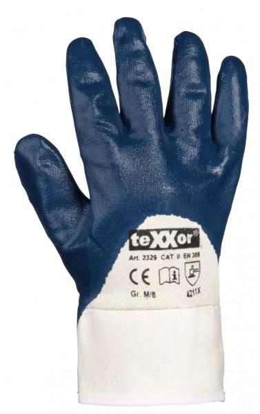 teXXor® Nitril-Handschuhe STULPE 2329