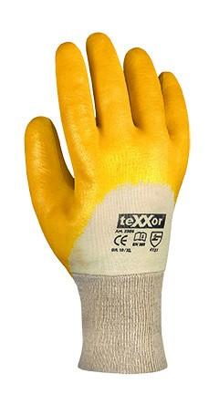 teXXor® Nitril-Handschuhe STRICKBUND 2356