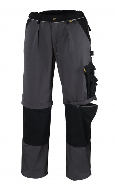 teXXor® 2-in-1 Bundhose TOBAGO, 320 g/m², grau/schwarz 8357