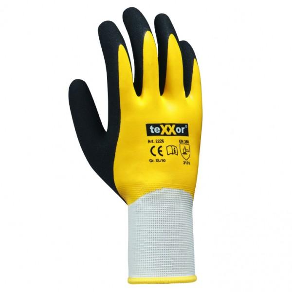 teXXor® Polyester-Strickhandschuhe LATEX 2226