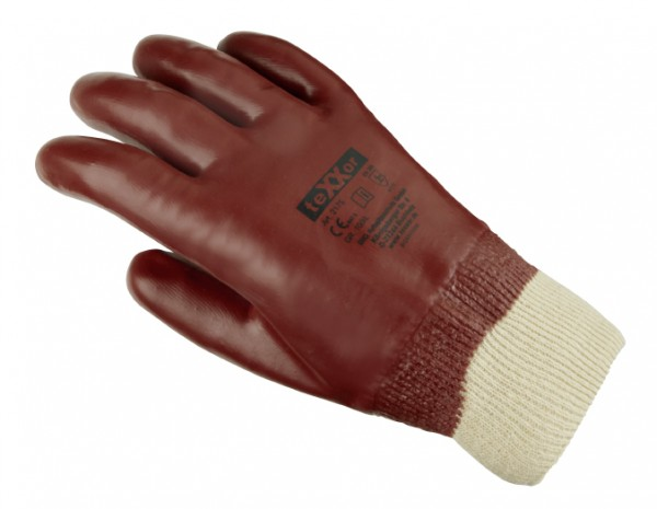 teXXor® PVC-Handschuhe, ROTBRAUN 2175
