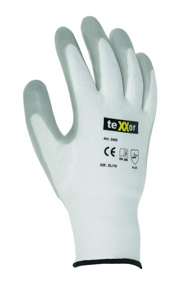 teXXor® Nylon-Strickhandschuhe NITRIL BESCHICHTET 2420