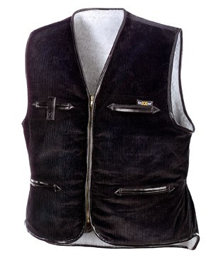 teXXor® Breitcordweste VEGA, schwarz 4200
