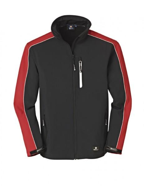 4PROTECT® Softshell-Jacke OHIO, rot/schwarz 3371