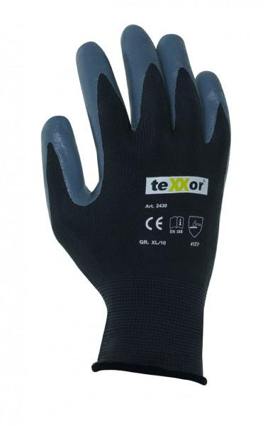 teXXor® Polyester-Handschuhe NITRIL BESCHICHTG. 2430