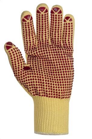 teXXor® Mittelstrickhandschuhe ARAMID mit Noppen 1972