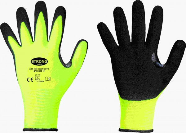 STRONGHAND *NEON CUT 5* STRONGHAND® HANDSCHUHE 0841