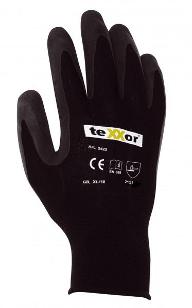 teXXor® Polyester-Strickhandschuhe LATEX BESCHICHTG. 2425