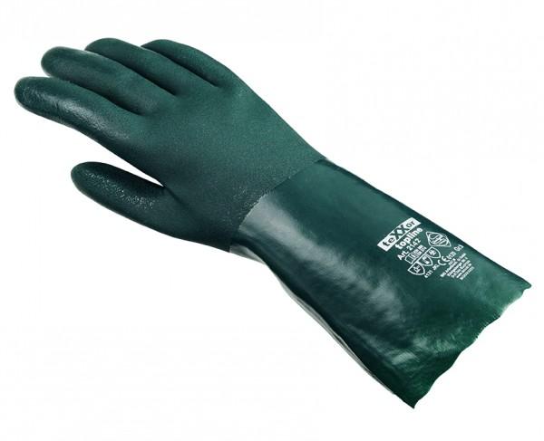 teXXor® Chemikalienschutzhandschuhe PVC GRÜN 2142