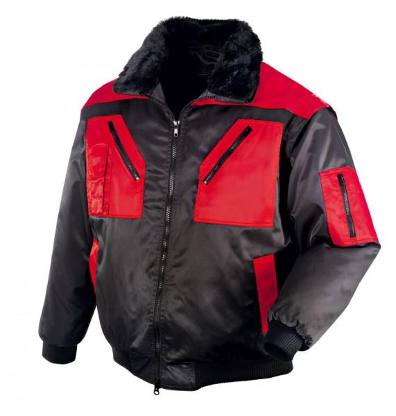 teXXor® Piloten-Jacke OSLO, schwarz/rot 4180