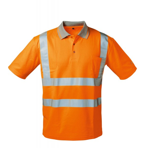 SAFESTYLE *MATEO* UV- UND WARNSCHUTZ-POLO-SHIRT ORANGE 22722