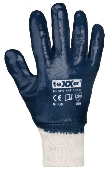 teXXor® Nitril-Handschuhe STRICKBUND 2319