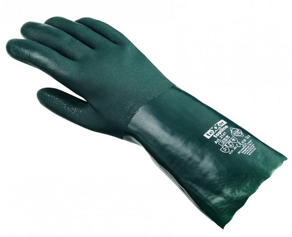 teXXor® Chemikalienschutzhandschuhe PVC GRÜN 2141