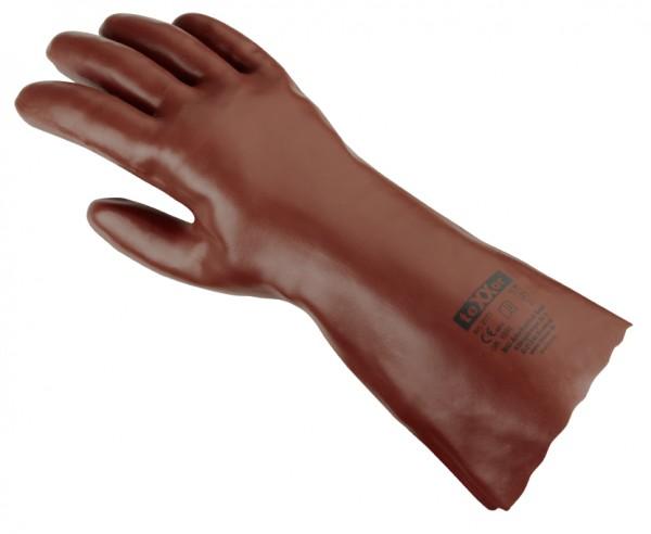 teXXor® PVC-Handschuhe, ROTBRAUN 2171