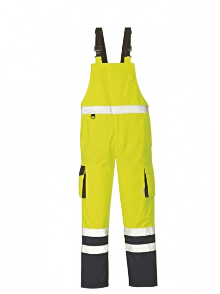 4PROTECT® Warnschutz-Latzhose CHICAGO, leuchtgelb/navy 3486