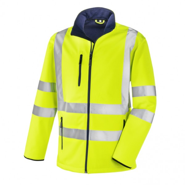 teXXor® Warnschutz-Softshell-Jacke NIAGARA, leuchtgelb 4103