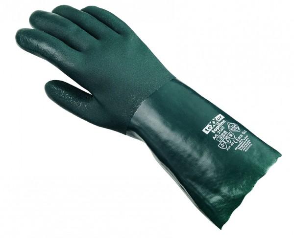 teXXor® Chemikalienschutzhandschuhe PVC GRÜN 2140
